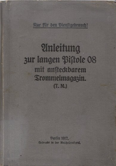 Cover of 1917 LP08 instruction manual