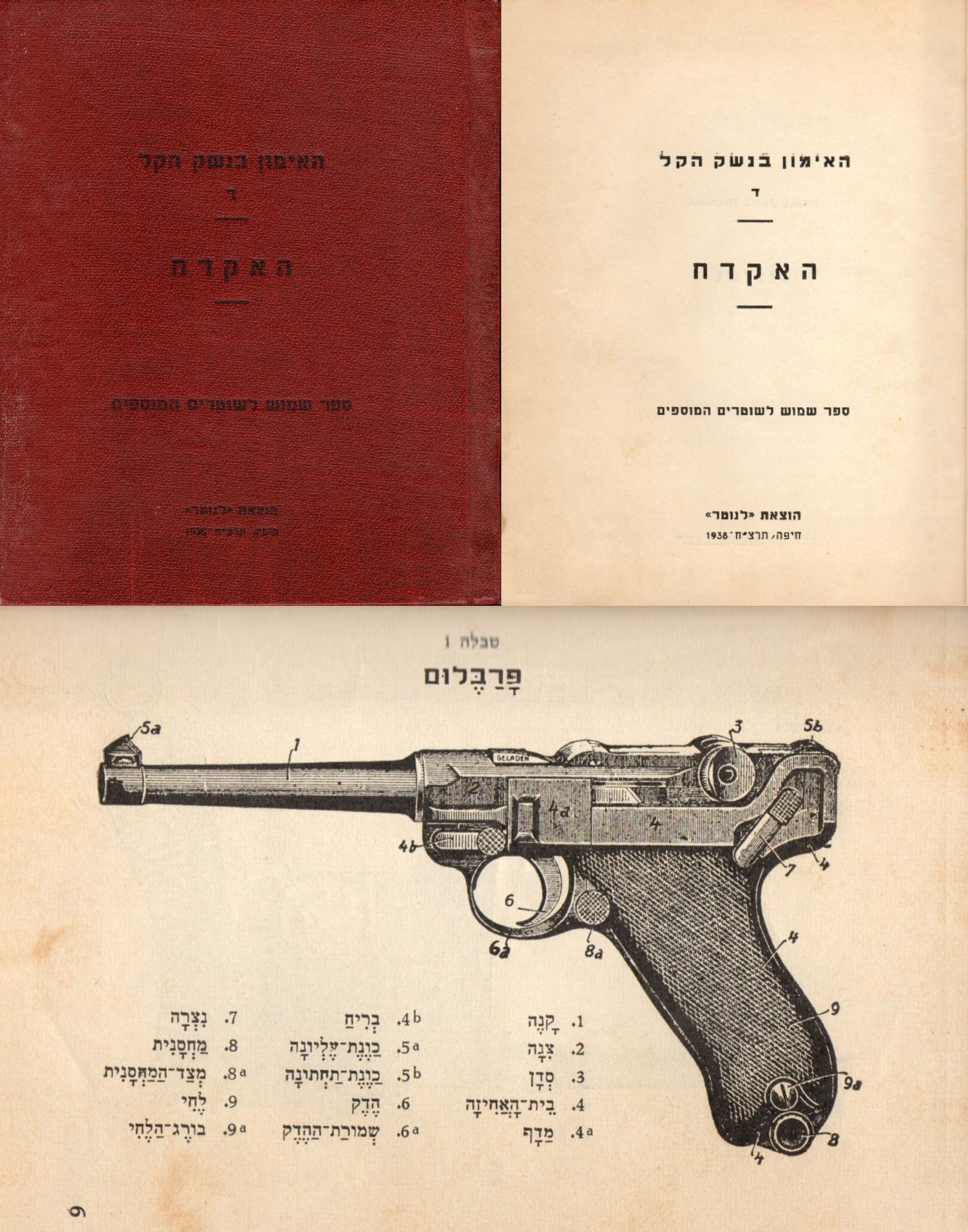 Cover of 1938 Israeli Police instruction manual
