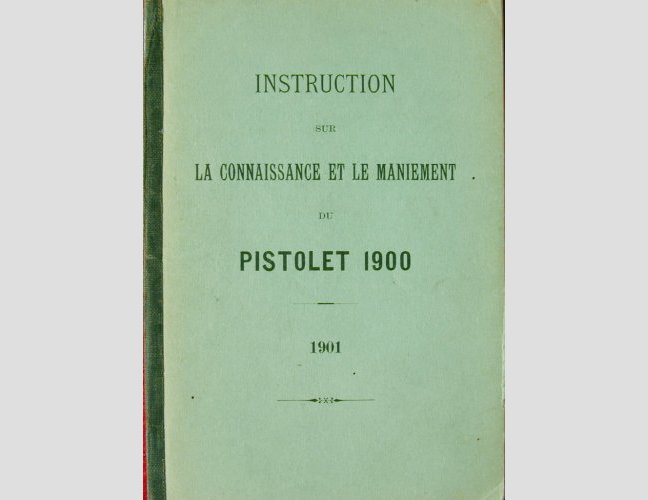 1900 Swiss Ord. French language Luger manual