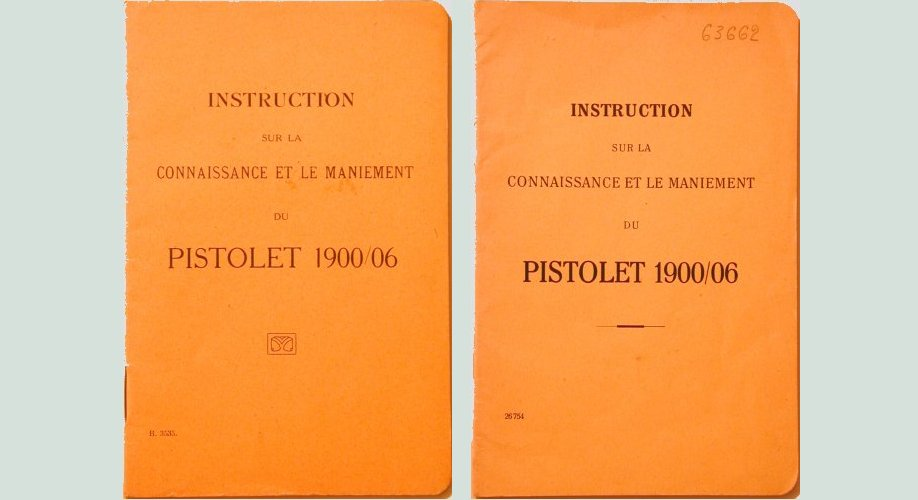 M1906 Swiss Ord. French language Luger manual